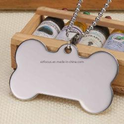 كلب علامة من الفولاذ المقاوم للصدأ الحيوانات الأليفة مخصصة منقوشة علامة الكلب Cat Pet ID Name Blank Essg16200