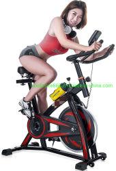 Strumentazione fissa di riciclaggio di allenamento del ciclo dell'interno della bici di rotazione Recumbent della bici di esercitazione con la visualizzazione di impulso W/LCD e piede registrabile per il Ministero degli Interni
