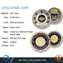 Matel personalizada Arte Artesanía de la Fuerza Aérea de Chile el Honor Militar Desafío Moneda con diseño libre Supplice British Marine Corps monedas conmemorativas de los plásticos