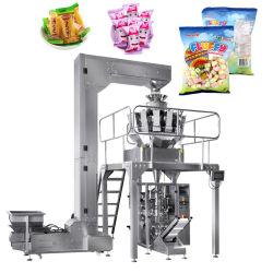 Grãos de Arroz Sal Grânulo automática Açúcar Porcas Pipoca Saco Plástico máquina de embalagem Sanck Vertical máquina de embalagem de estanqueidade de abastecimento alimentar