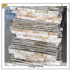 Тонкие стены белого цвета шпона Quartzite камень панели природного камня стены плитки для камином и ТВ-Фон стен шпона