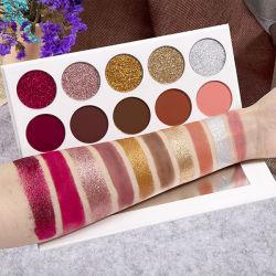 2019 Nouveau pigment 10 couleurs Palette de haute Fard cosmétiques Palette maquillage Fard à paupières sous étiquette privée