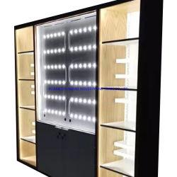 Cina prodotto su misura moderna struttura in metallo acrilico legno Supermarket Scaffale espositore per mobili domestici armadio di archiviazione
