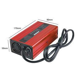 شاحن بطارية ليثيوم أيون من نوع Shell من الألومنيوم الأحمر 58,8 فولت 4A لكاميرا Li-ion حزمة بطارية Lipo للأدوات الكهربائية