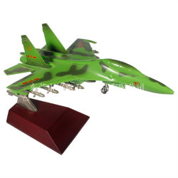 ハイエンドギフトのためのランディングギヤーが付いている1/48個のスケールのダイカストで形造られた合金の高いシミュレーションの飛行機モデルJ-10戦闘機モデル