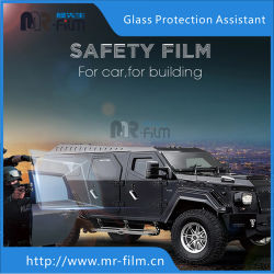Уф неприятие пуленепробиваемые стекла окна защиты пленки