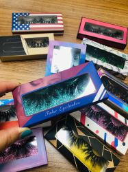 3D de imitación de seda Mink Fake Premium Synthetic Pestañas postizas pestañas ojos volumen Natural vendedor cuadros personalizados