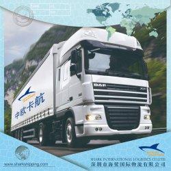 Porte à porte de la Chine à la Lettonie d'expédition par camion