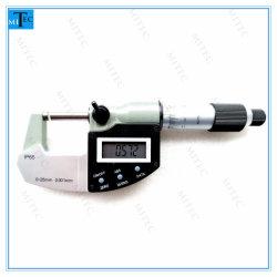 Micrometro elettronico del calibro della parte esterna di Digitahi Digimatic della prova dell'acqua dello strumento IP65 degli strumenti di misura