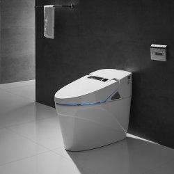 세라믹 목욕탕 고정되는 한 조각 Bidet 살포 지능적인 Wc 화장실