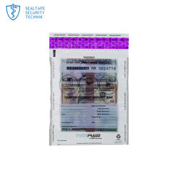 Shenzhen correo Correo de plástico de la cinta de sellado contra la falsificación de la junta de la bolsa de evidente manipulación