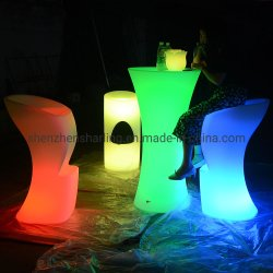 Indicatore luminoso illuminato ricaricabile d'ardore luminoso della presidenza della barra del cambiamento di plastica LED di colore