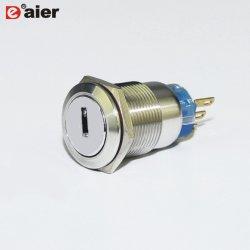 19mmの3pin金属防水機械主電気スイッチロック
