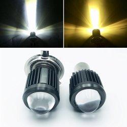 안개등 반점 램프 온/오프 스위치 U1 렌즈 6000K-7000K 600lm 기관자전차 빛을 모는 2PCS 기관자전차 LED 헤드라이트