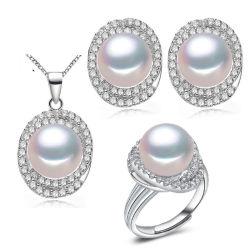 Hot 925 vente de bijoux en argent avec jeu de l'eau douce naturelle Pearl