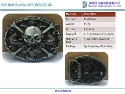 Caixa de travamento de cinto de segurança da Europa Ocidental no design de Shantou Correia para homens 40mm