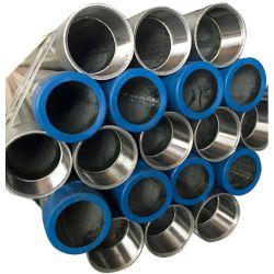 BS1387 Tubos de acero galvanizado en caliente extremos roscados con tomas y las tapas del tubo digestivo