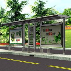 2020 패션 스테인레스 스틸 버스 스톱 광고 버스 정류장 디자인
