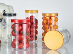 La Comida de plástico Pet 200ml frasco con tapa de rosca de color