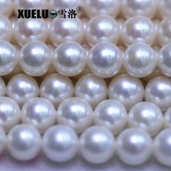9-10mm AAA+ Ronda muy alta calidad de agua dulce naturales blancas perlas, Perlas Cultivadas Zhuji mayorista