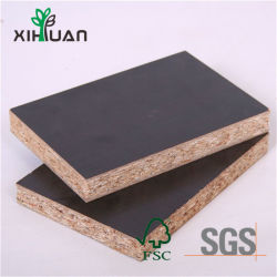 Kitchen Cabinetのために紫外線耐熱性Melamine Black Chipboard