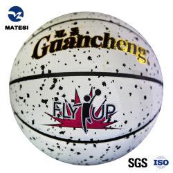 Förderndes langlebiges Gut Belüftung-PU-Leder lamellierter Sport-Kugel-Basketball