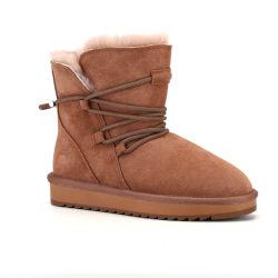 OEM de Antislip Waterdichte Schoenen van de Vrouwen van de Schapehuid van de Winter 2020 Laarzen van de Sneeuw van het Bont Sliod voor Dames