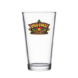 cristalleria fatta a macchina all'ingrosso di vetro personalizzata di vetro di buona qualità di marchio di vetro di birra della pinta 16oz