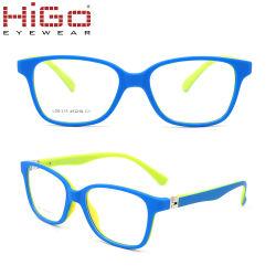 Пластиковые резиновые детские очки Китая на заводе петли пружины Tr90 детей очки