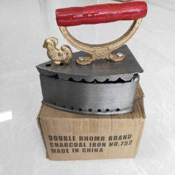 752# 2.1kg doppelte Rhomb Marken-örtlich festgelegtes Hahn-Kopf-Holzkohle-Eisen für Ghana-Markt