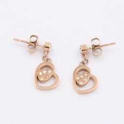 متأخّر حارّ يبيع [ستينلسّ ستيل] مجوهرات قلب بلورة حلق