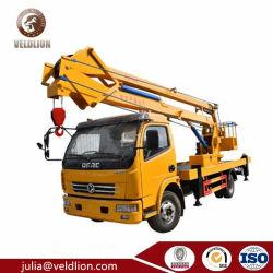 중국의 유명한 동펑 플랫폼 스택커 트럭 안전 제조업체 항공 18m 테일 리프트