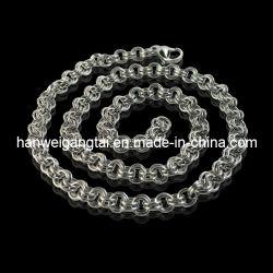 La cadena de acero inoxidable 316L, Collar de Joyas de acero, la cadena de cable