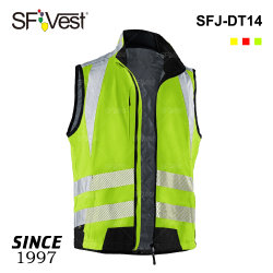 Sleeveless Outdoor Sportswear High Visibility Cycling Heat Transfer Tape Reflective Jacket