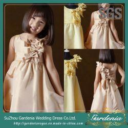 Kitty Chen robe de bal Empire Tea-Length Coral Kids robe de fête (GDNY305)