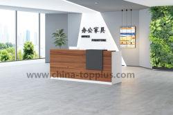 Muebles de oficina modernos Mesa Mostrador de recepción de madera (KP-2418)