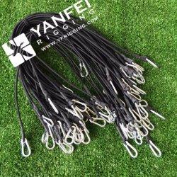 Эластичные шнуры Bungee с гальванизированными щелчковыми крюком и отверстией