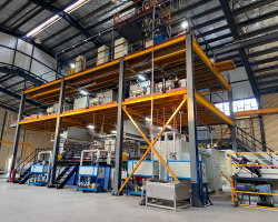 1600 mm modelo PP Spunbond Nonwoven Fabric Línea de producción / Spunbond Nonwoven Fabric haciendo equipo