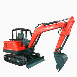 Escavatore idraulico piccolo Ere45 4.5ton Ere45 Mini cingolato Cina Pala escavatore gommata Digger con prezzo di fabbrica a basso costo