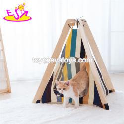 Bestes Haustier gibt hölzernes Haustier-Zelt-weiches Bett für Hund und Katze W06f077 an