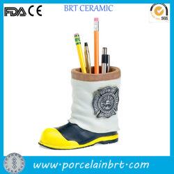 Bombeiro mini porta-lápis para crianças de cerâmica de Inicialização
