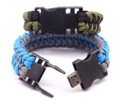 Outdoor Bracelete trançada multifuncional U Disk Drive Flash USB