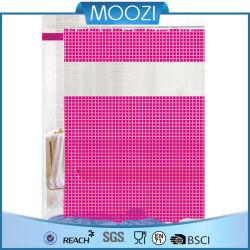 투명 샤워 커튼 에코 PVC 커튼이 있는 따뜻한 핑크 틱