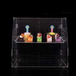 Alta qualità personalizzata banco di mostra acrilico del pane di 3 strati