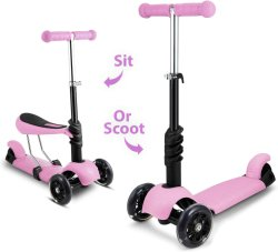 Pedal exterior para crianças passeio na criança portátil 3 Exercício de Scooter pontapé da Roda