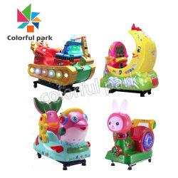 Parc coloré de terrain de jeux pour enfants Coin Push arcade de jeux de machines d'enfants pour la vente de voiture électronique de rotation