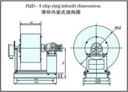 磁気カップルの運転されたケーブル巻き枠JQC (JQD-45-I)