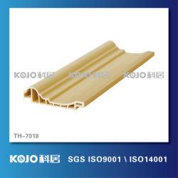 Nuevo material resistente al agua preciosa WPC perfil decorativo (TH-7018)