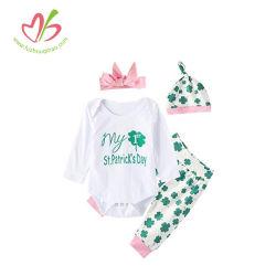 Petit bébé fille St. Patrick's Romper Longall infantile définie
