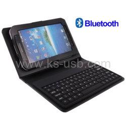 Bluetooth Tastatur-Leder-Kasten für Samsung-Galaxie-Tabulator 7/P1000 (KTPC-0630)